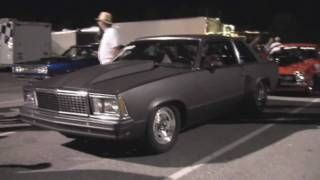 Black Malibu Drag Car walk around