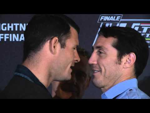 TUF Nations Finale Bisping and Kennedy Heated Faceoff