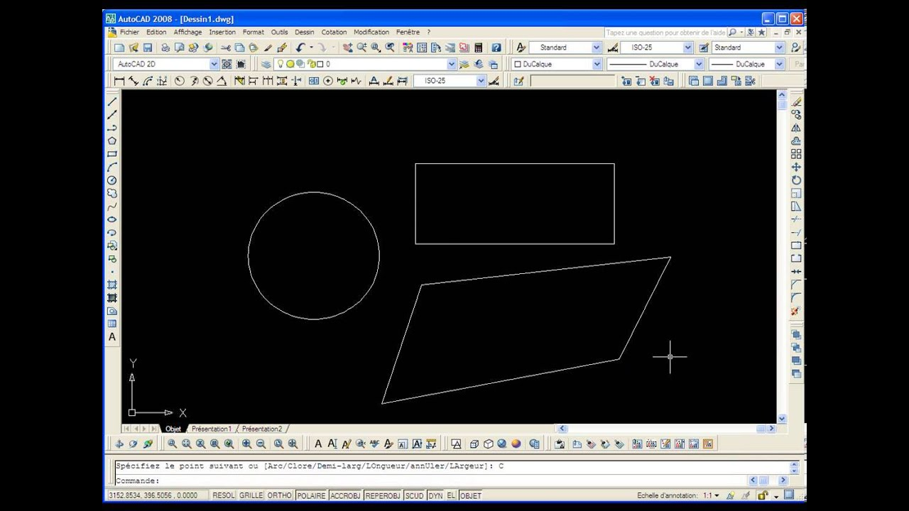 Comment calculer une surface quelconque sur autocad youtube - Calculer une surface a peindre ...