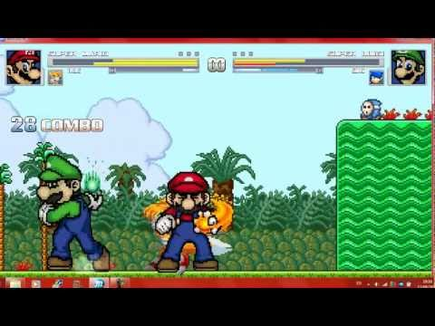 Mugen Mario and Tails vs Luigi and Sonic