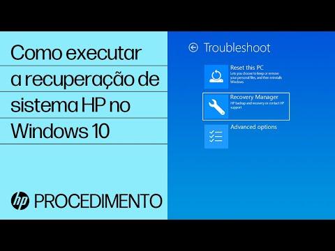 Como executar a recuperação de sistema HP no Windows 10