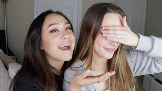 Doing my little sisters makeup!