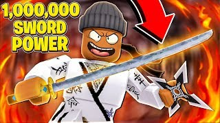 I got 1,000,000 SWORD POWER & became KING in Roblox Ninja Legends!