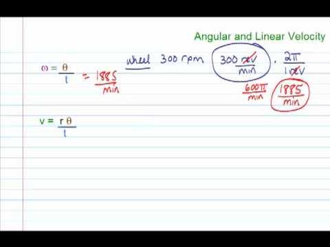 Trig Angular Linear Velocity Angular Velocity Equation
