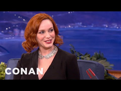 "Christina Hendricks On The Fashion Of ""Mad Men"" - CONAN on TBS"