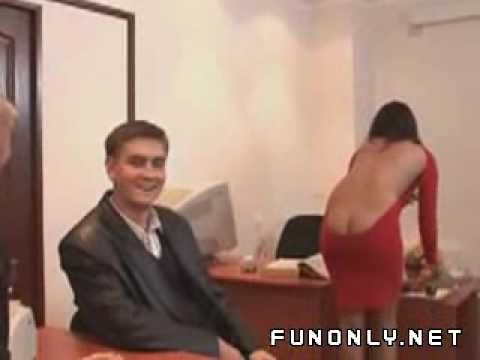 Funny sexy lady with low cut dress