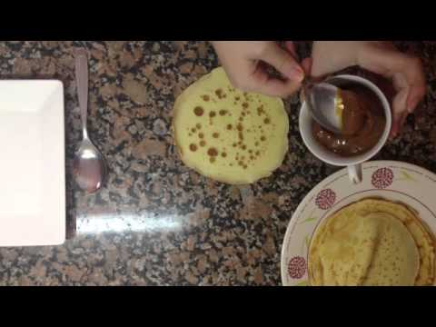 Crepes dulces - Receta de tortitas de chocolate