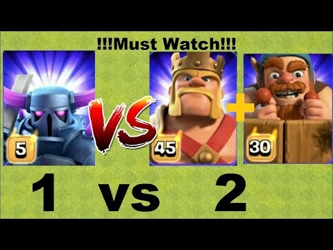 Pekka Queen vs Barbarian king and Battle Machine 🔥🔥🔥 Clash Of Clans | Private Server