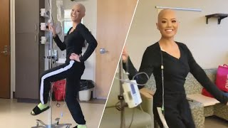 Young Woman Dances Around Hospital Room During Chemotherapy