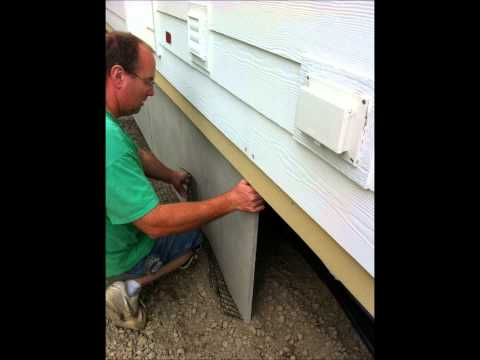 Duraskirt Panel Installation   Mobile Home Skirting 360-419-9909