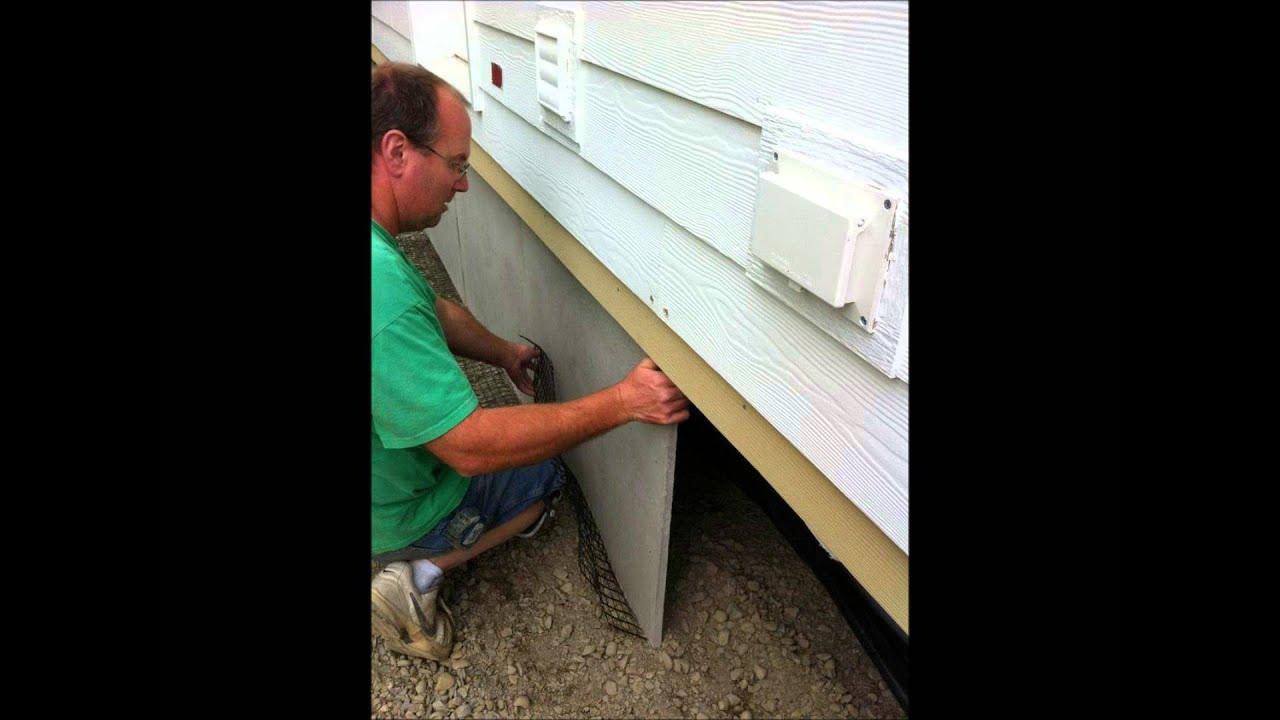 Duraskirt Panel Installation Mobile Home Skirting 360
