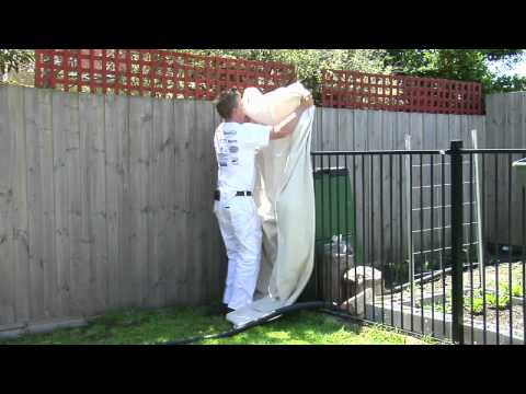 paint spot how to paint a fence with a spray. Black Bedroom Furniture Sets. Home Design Ideas