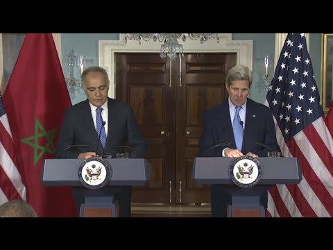 Secretary Kerry Delivers Remarks With Moroccan Foreign Minister Mezouar