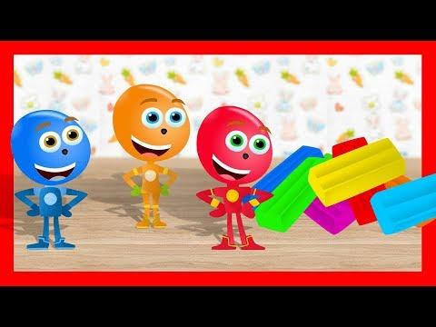 Разноцветный ПЛАСТИЛИН - Лепим пластилиновые Фиксики. Обучающее видео о лепке