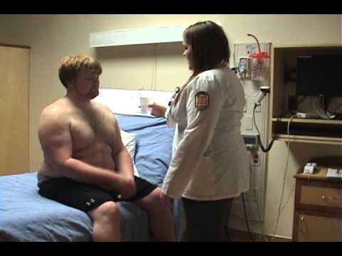 Hockey breast exam video