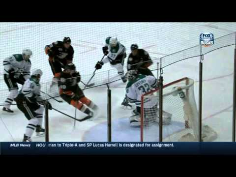 Ryan Getzlaf tip in goal 2-0 Dallas Stars vs Anaheim Ducks 4/16/14 NHL Hockey.