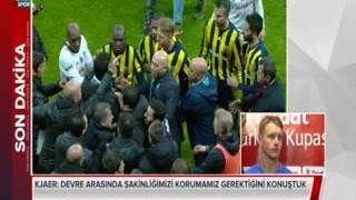 Şenol Güneş Kjaer arasında olay! İşte o anlar (Beşiktaş - Fenerbahçe)