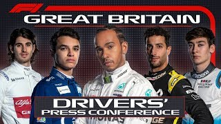 2019 British Grand Prix: Pre-Race Press Conference
