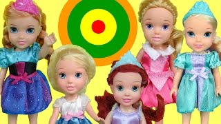 Bullseye Target Game! ELSA and ANNA toddlers & other kids PLAY & Win prizes!
