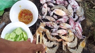 Amazing Man Cooking octopus in cambodia-Best khmer Food-village food factory cambodia-village food