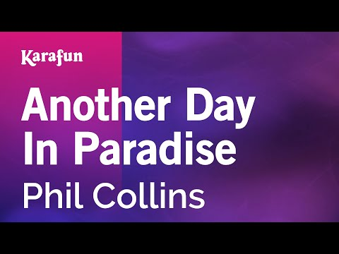 Karaoke Another Day In Paradise  Phil Collins *