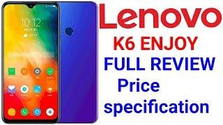 Lenovo K6 Enjoy with triple rear cameras, 128GB storage, Android 9.0 Pie