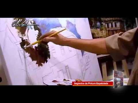 video aula - passo a passo  (segredos da pintura espatulada) Cido Oliveira