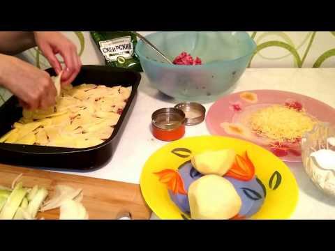 Как приготовить картофель с фаршем - видео