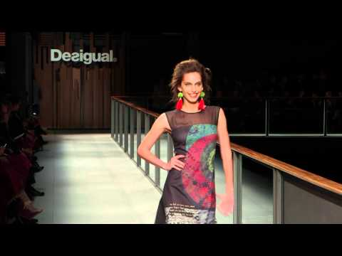 Desigual Barcelona Fashion Week Show Autumn Winter 14 with Irina Shayk