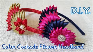 ❀❀❀ D.I.Y. Satin Cockade Flower Headband | MyInDulzens ❀❀❀