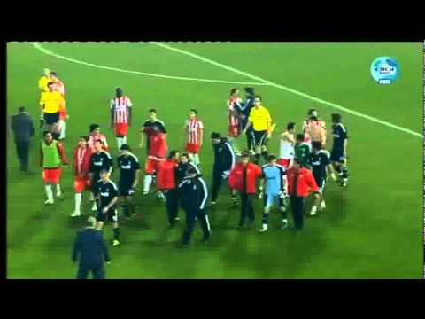 Fight between Casillas - Vargas after the match Almeria - Real Madrid 16/1/11