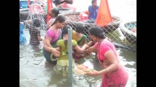15  08  2016  Krishna Pushkaralu2016 view of Lingala Gattu Ghat Srisailam Public Bathing