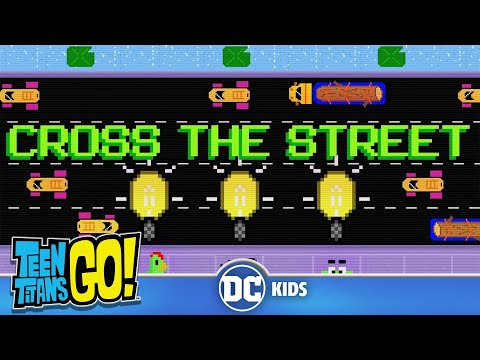 Teen Titans Go! | 8-bit Beast Boy Cross The Street | DC Kids