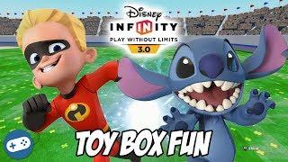 Dash and Stitch Disney Infinity 3.0 Toy Box Fun Gameplay