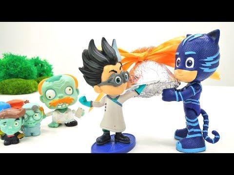 ГЕРОИ В МАСКАХ против злодеев! Видео с игрушками из мультиков. #Ромео превратил детей в зомби 🧟