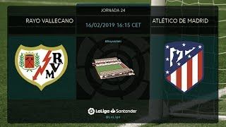 Calentamiento Rayo Vallecano vs Atlético de Madrid