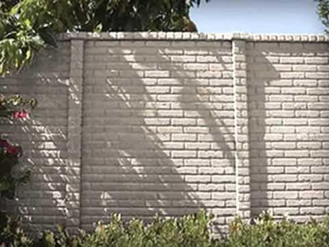 Precast Concrete Fence Panels Easycrete Youtube