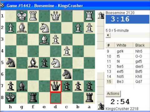Chessworld.net : Blitz #283 vs. Boesemine (2120) - English Opening : Anglo-Dutch defense (A10)