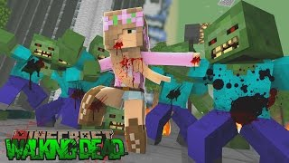 Minecraft The Walking Dead - LITTLE KELLY CATCHES THE DISEASE!