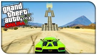 GTA 5 Fun Races - MIDDLE, SIDE, SIDE, MIDDLE JUMP ! [GTA V Online Funny Moments]