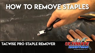 Removing staples with the Tacwise pro staple remover