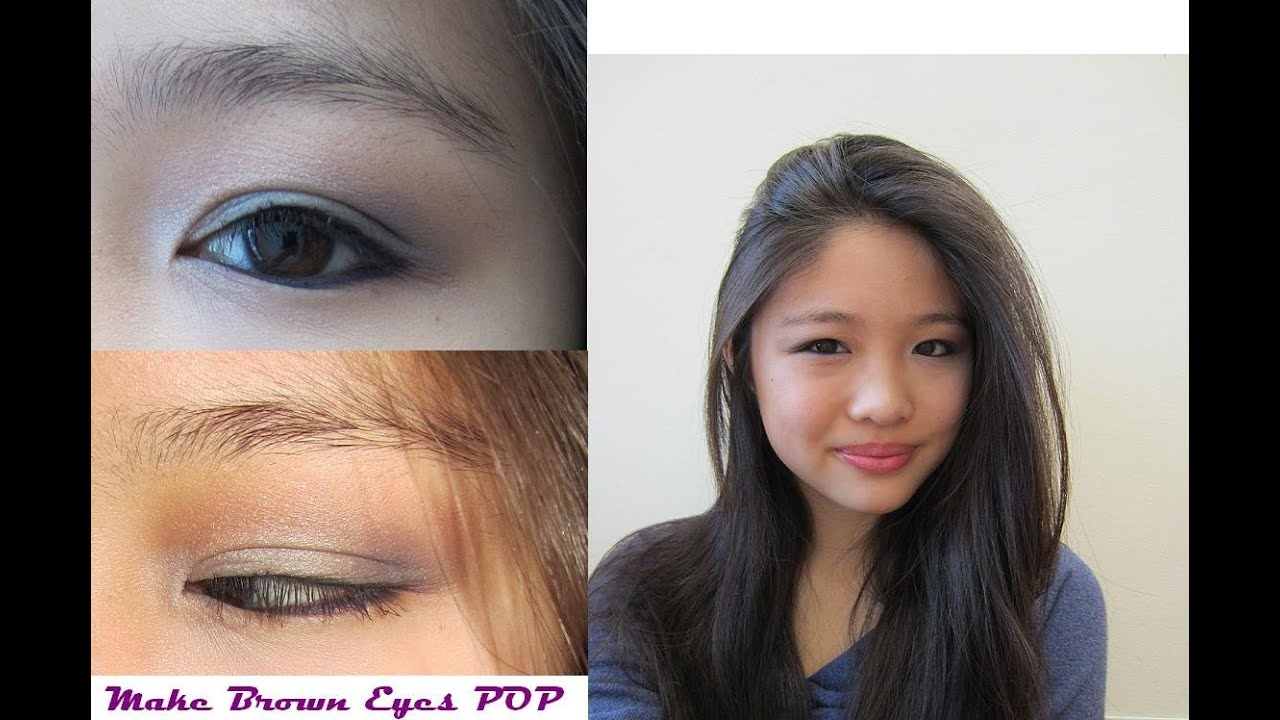 Grey eye makeup for brown eyes