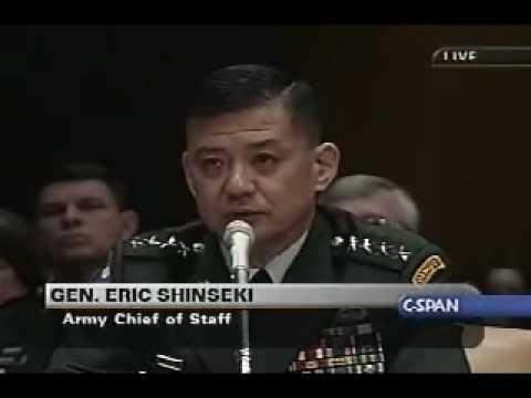 Gen. Eric Shinseki  from 02.25.03