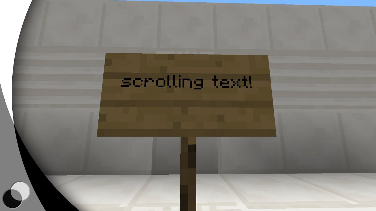 scrolling text on signs in vanilla minecraft