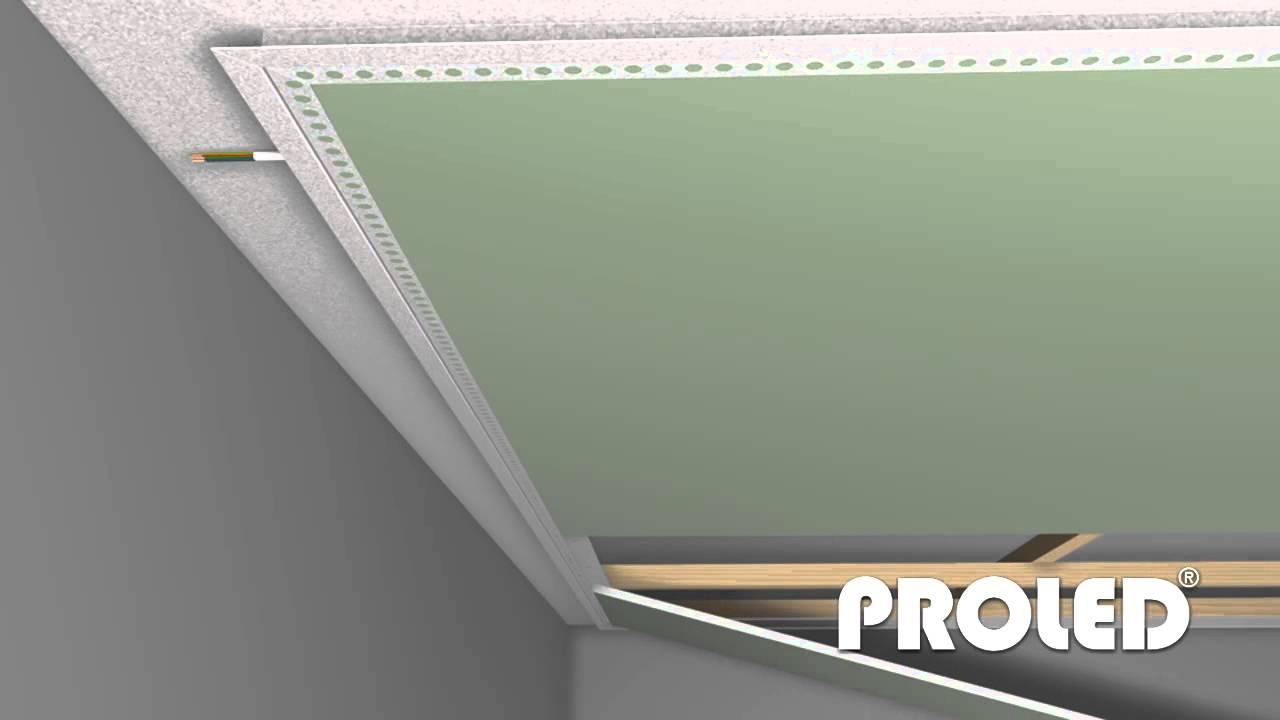 Come montare un profilo per strisce led a cartongesso - YouTube