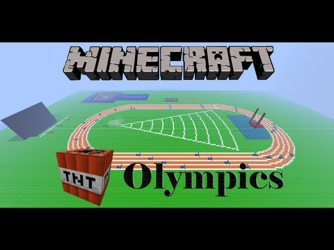 Minecraft TNT Olympics Episode 4: 400m Hurdles and Vault