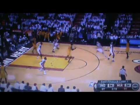 Indiana Pacers Vs Miami Heat  Full Overtime Part 1 NBA Eastern Conference Finals 2013 Game 1 5/22/13