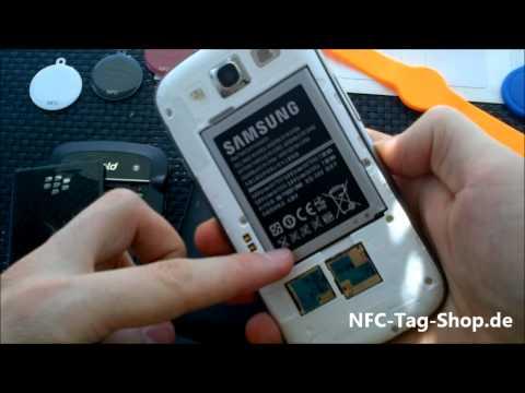 NFC Antenennen im Vergleich: Samsung Galaxy S3. Samsung Nexus S und Blackberry Bold 9900