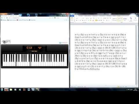 Virtual Piano - Yiruma, Kiss the Rain