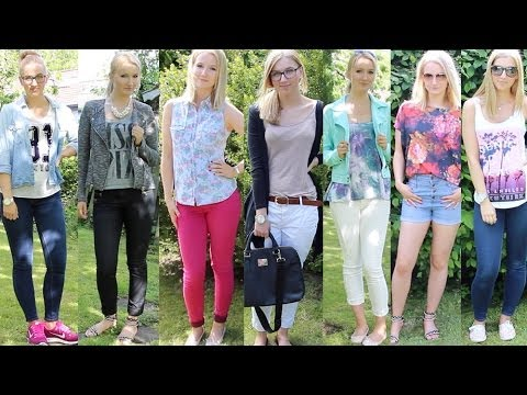 8 outfits f r die schule fr hling sommer lookbook youtube. Black Bedroom Furniture Sets. Home Design Ideas
